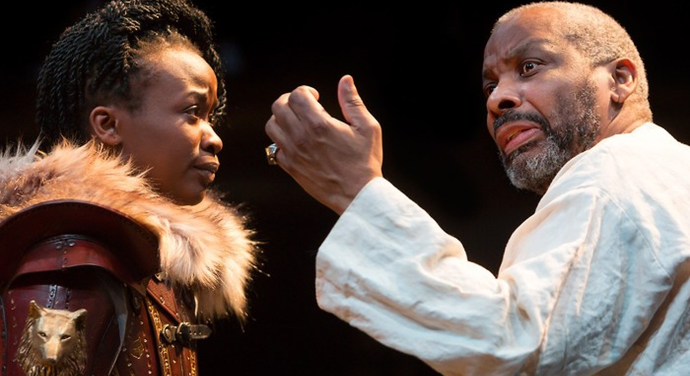 KING LEAR - Talawa Theatre Don Warrington (King Lear) & Pepter Lunkuse Photo Jonathan Keenan