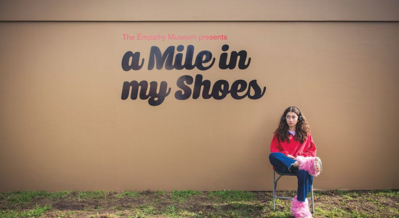 A Mile in My Shoes from Empathy Museum features a container full of shoes. Users are encouraged to 'walk a mile in someone else's shoes'