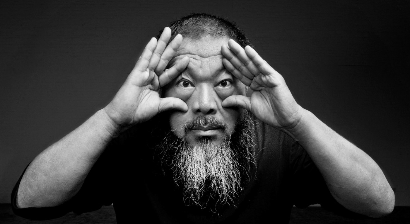 International Artist Ai Weiwei holding his eyes wide open