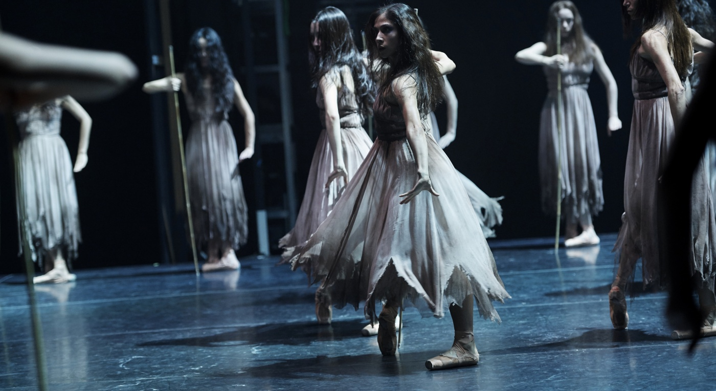 A scene from Akram Khan's production of Giselle by English National Balloet