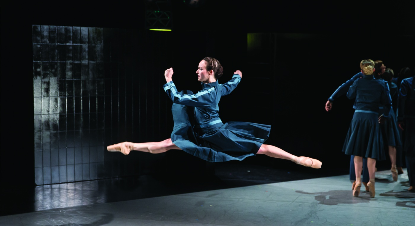 Dreda Blow leaps across stage in Jonathan Watkin's 1984