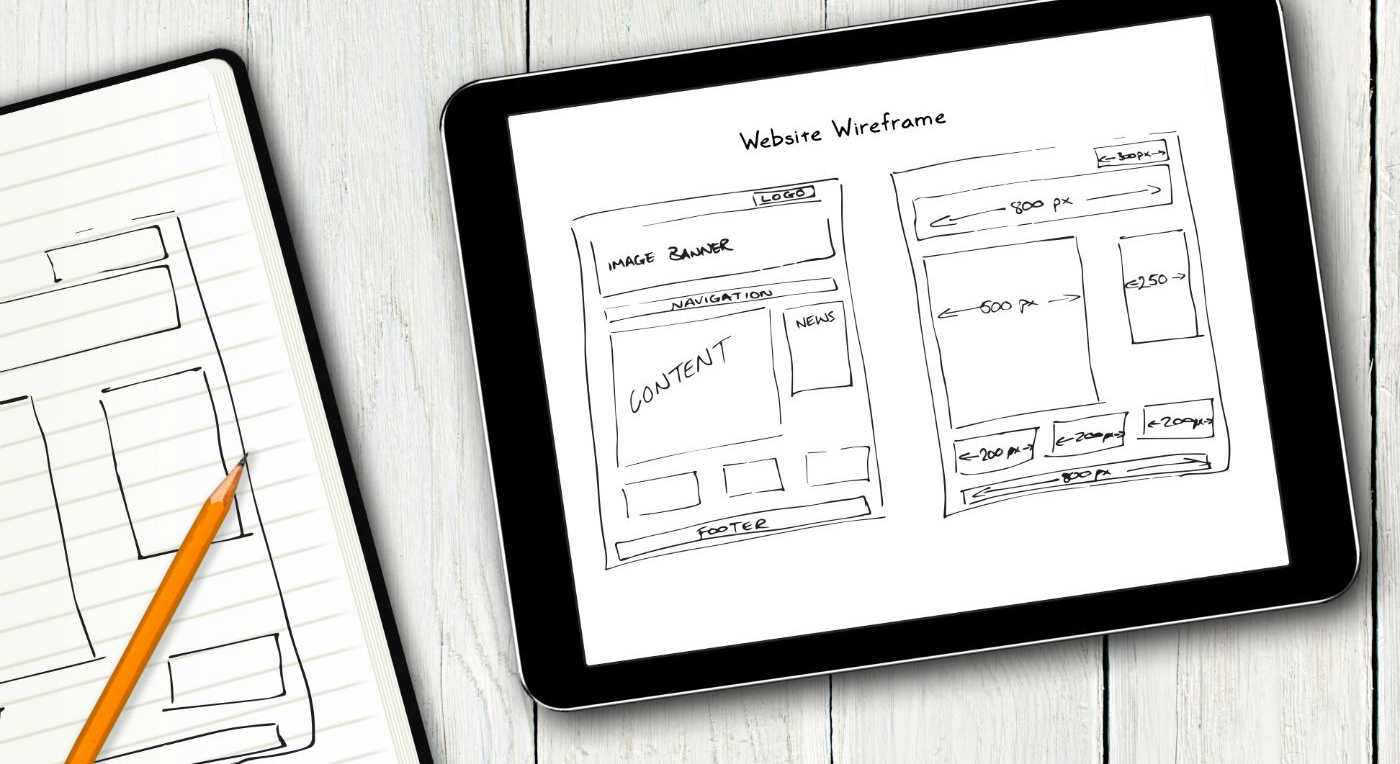 Build your own website sketch