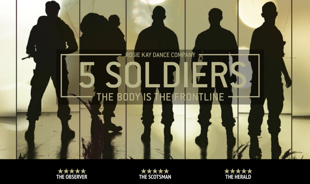 5 Soldiers silhouette production shot with 5 star reviews