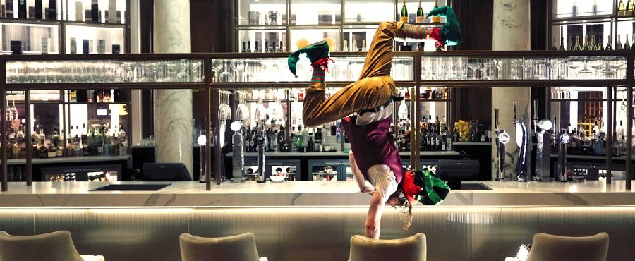 Circus Arts Scotland celebrate 250 years 250 years of the circus - a jester performs a handstand on a bar stool