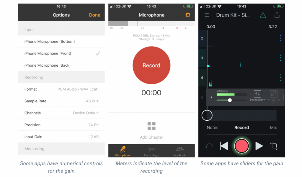 an illustration of music recording apps