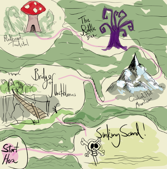 Map of an enchanted forest