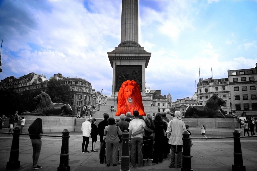Please Feed the Lions by Es Devlin, part of London Design Festival